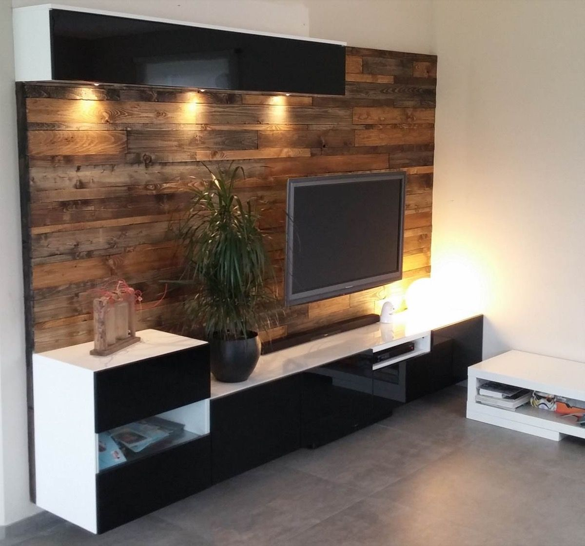 best media center with wood panels ikea hacks pinterest woods living rooms and ikea hack. Black Bedroom Furniture Sets. Home Design Ideas