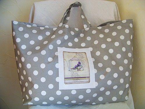 sac cabas et son tuto couture pinterest sac sac cabas et couture sac. Black Bedroom Furniture Sets. Home Design Ideas
