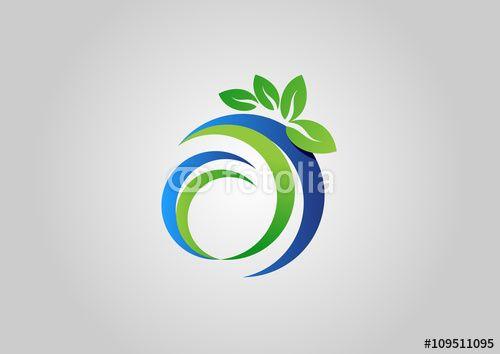 Circle Nature Ecology Logo Beauty Spa Symbol Icon Vector Design