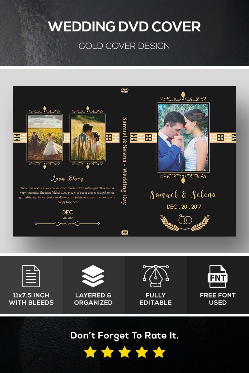 Wedding DVD Cover Corporate Identity Template 82585