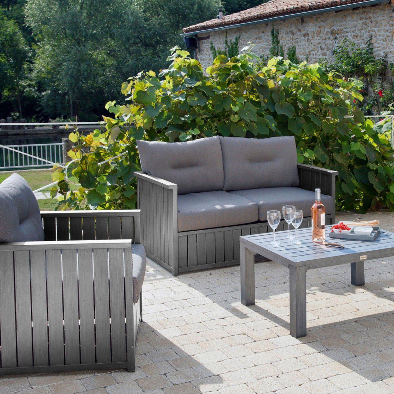 Canapé 2 places de jardin Milano gris PRO LOISIRS | Leroy Merlin ...