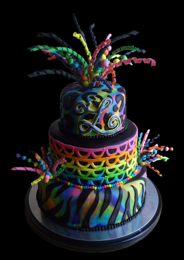 Rainbow Explosion Birthday Cake Kids Birthday Party Ideas and