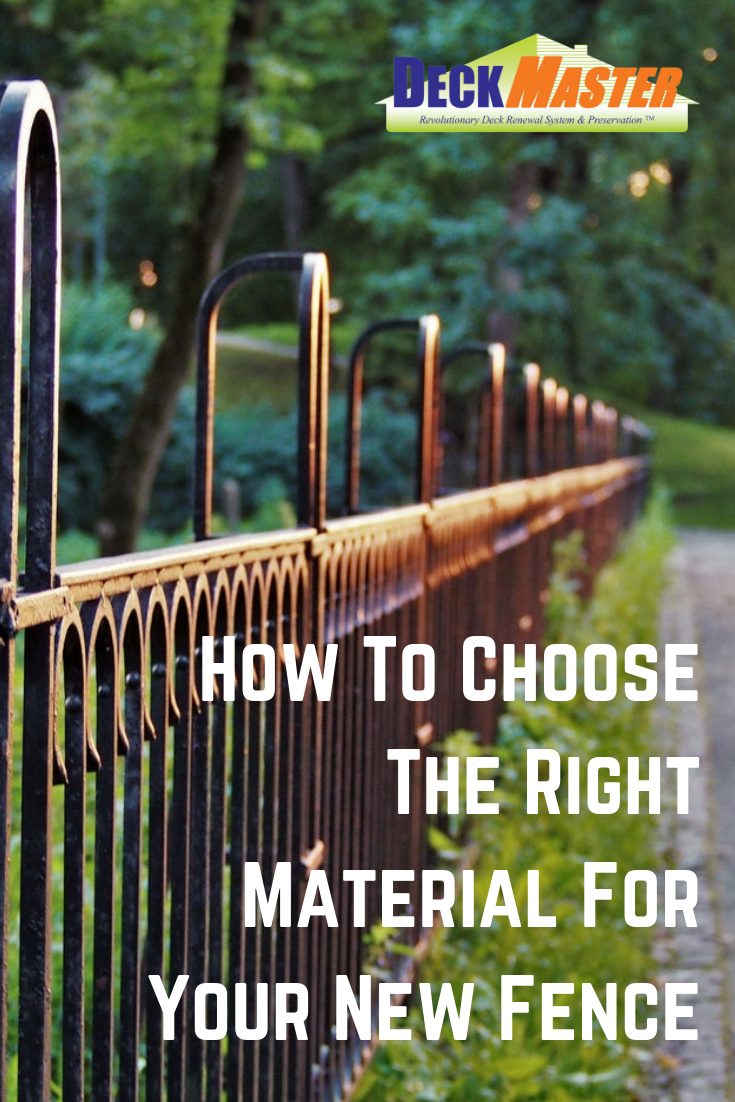 How To Choose The Right Material For Your New Fence Deckmaster Fence Aluminum Fence Revolutionaries