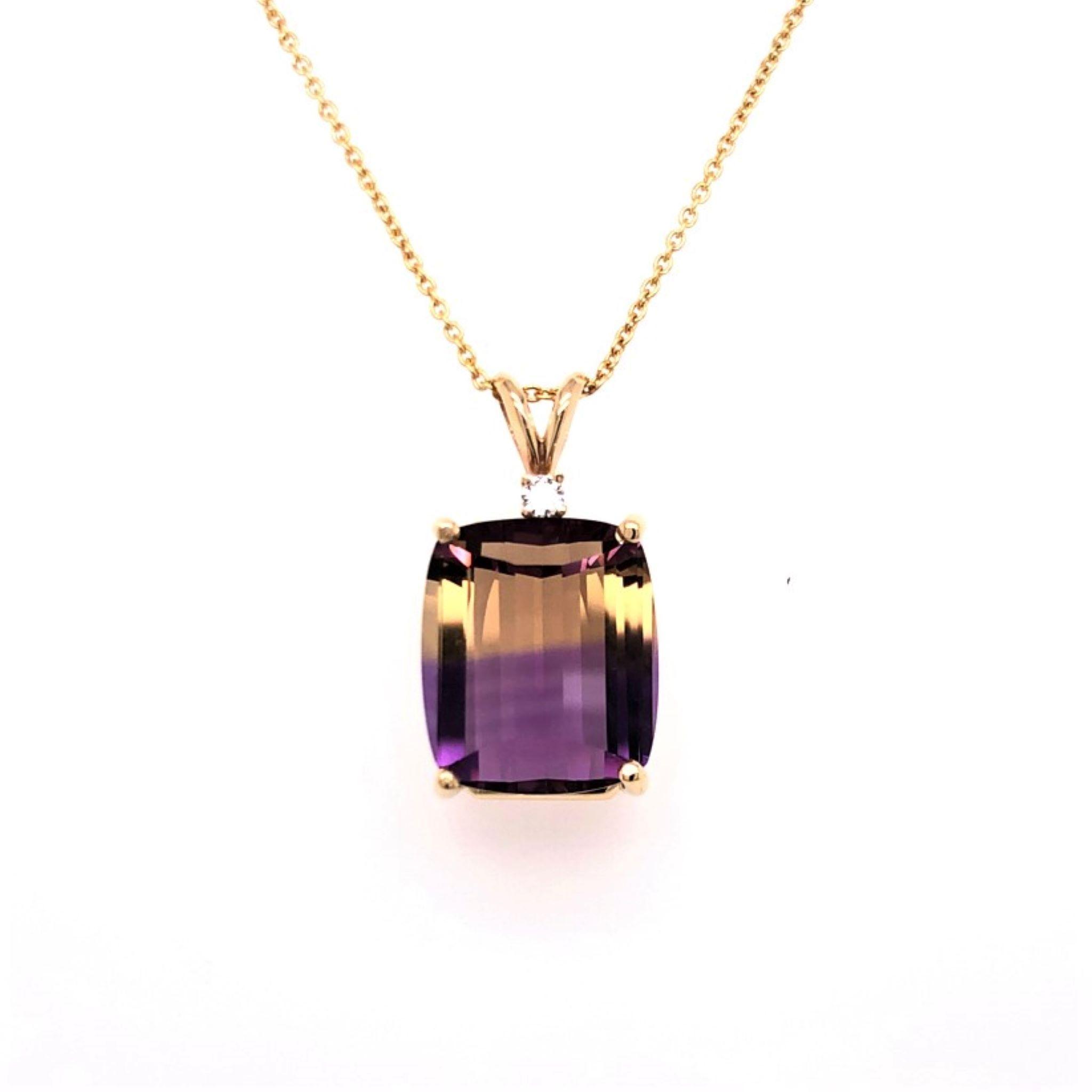 Cushion Shaped Ametrine Pendant - Davalle Jewelers