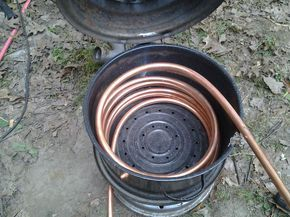 HOt water heater with coils in fire - Google Search