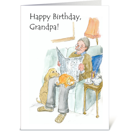Birthday Card for a Grandfather: up to $3.99 including postage: http://www.cardgnome.com/listings/birthday-card-for-a-grandfather