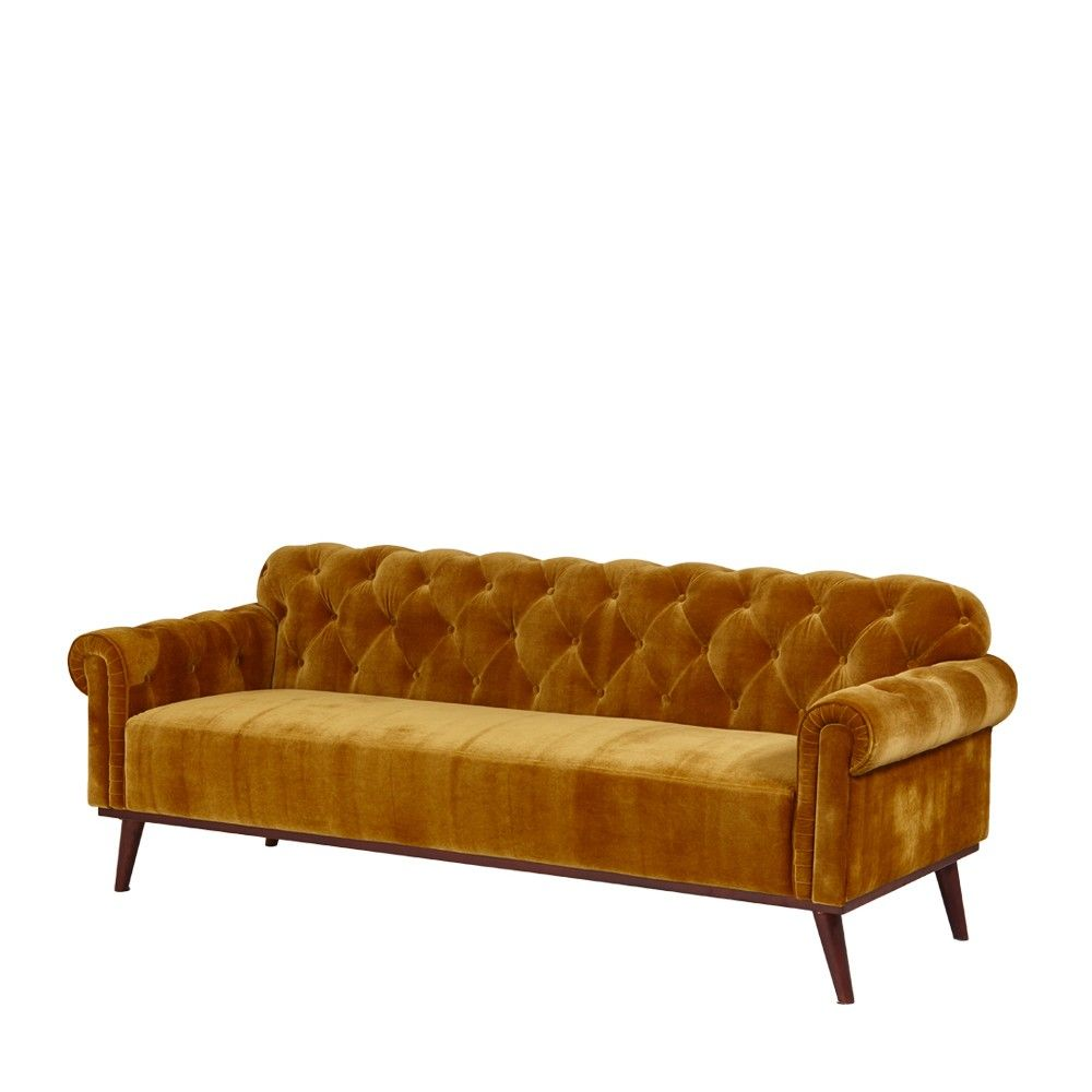 Mustard Retro Chesterfield Sofa   Sofas   Furniture - Me and My ...