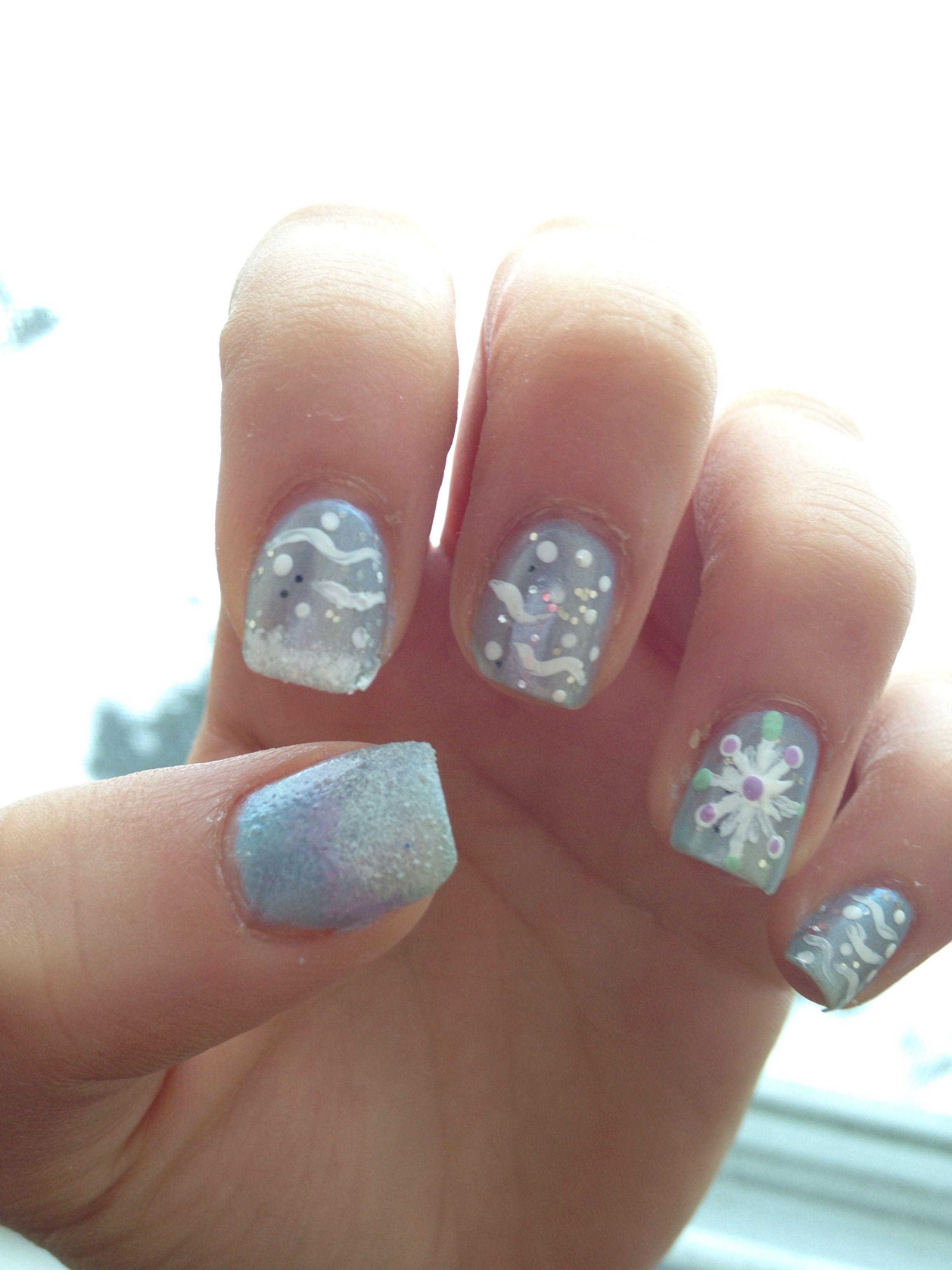 disney's frozen inspired nail art | 500 Miles | Pinterest ...