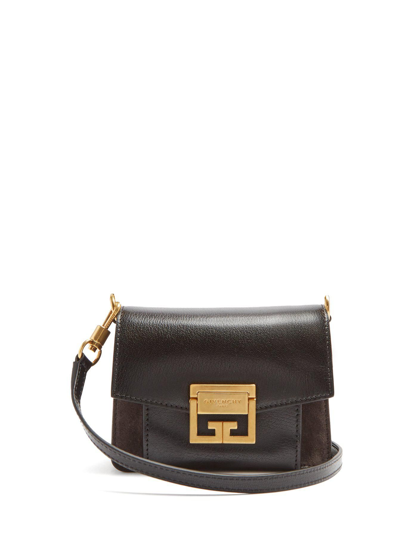 3ea45e62d44 Women s Black Gv3 Mini Suede And Leather Cross-body Bag in 2018 ...