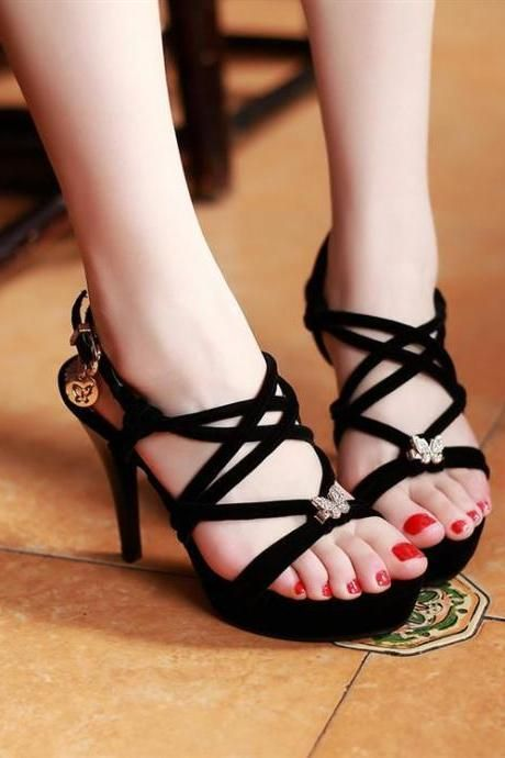 c25a1cb791 Ulass Zircon Bow Sandals in 2019   High Heels Shoes ❤   Bow sandals ...