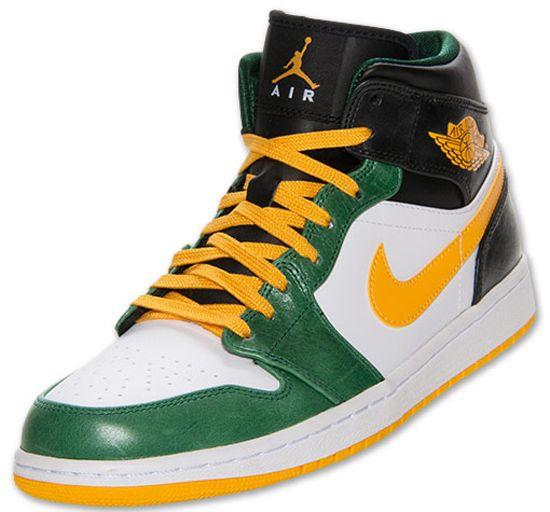 air jordan 1 green yellow black