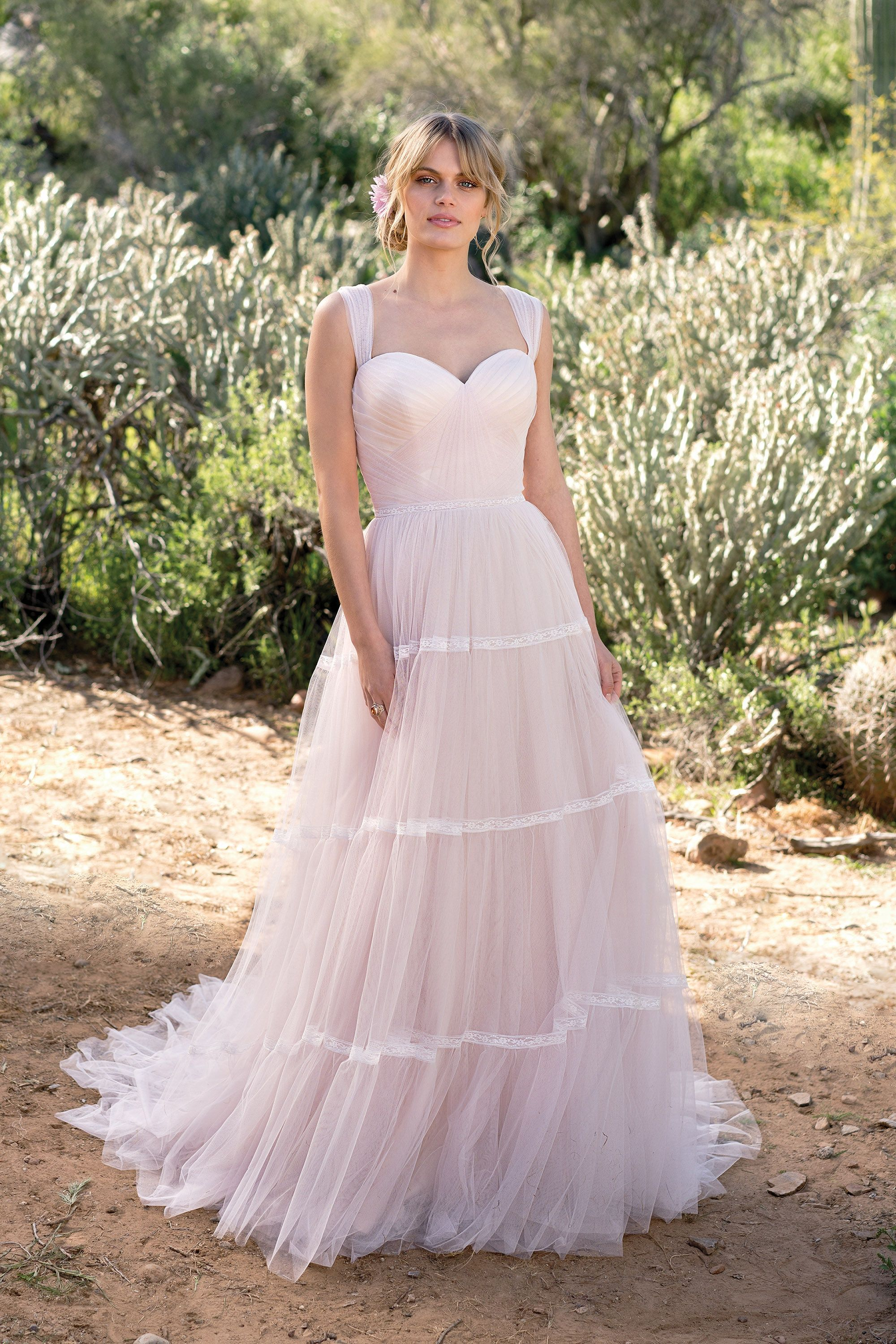 English net aline gown with tiered skirt my style pinterest
