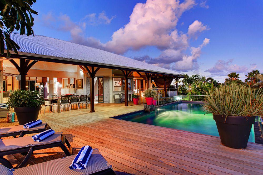 Villa de prestige vue mer avec piscine en guadeloupe la - Maison d hote en alsace avec piscine ...