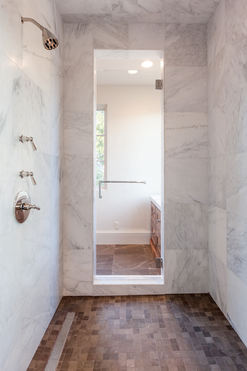 Large Tile Shower Walls With Images Marble Shower Walls White Marble Shower Master Bath Shower