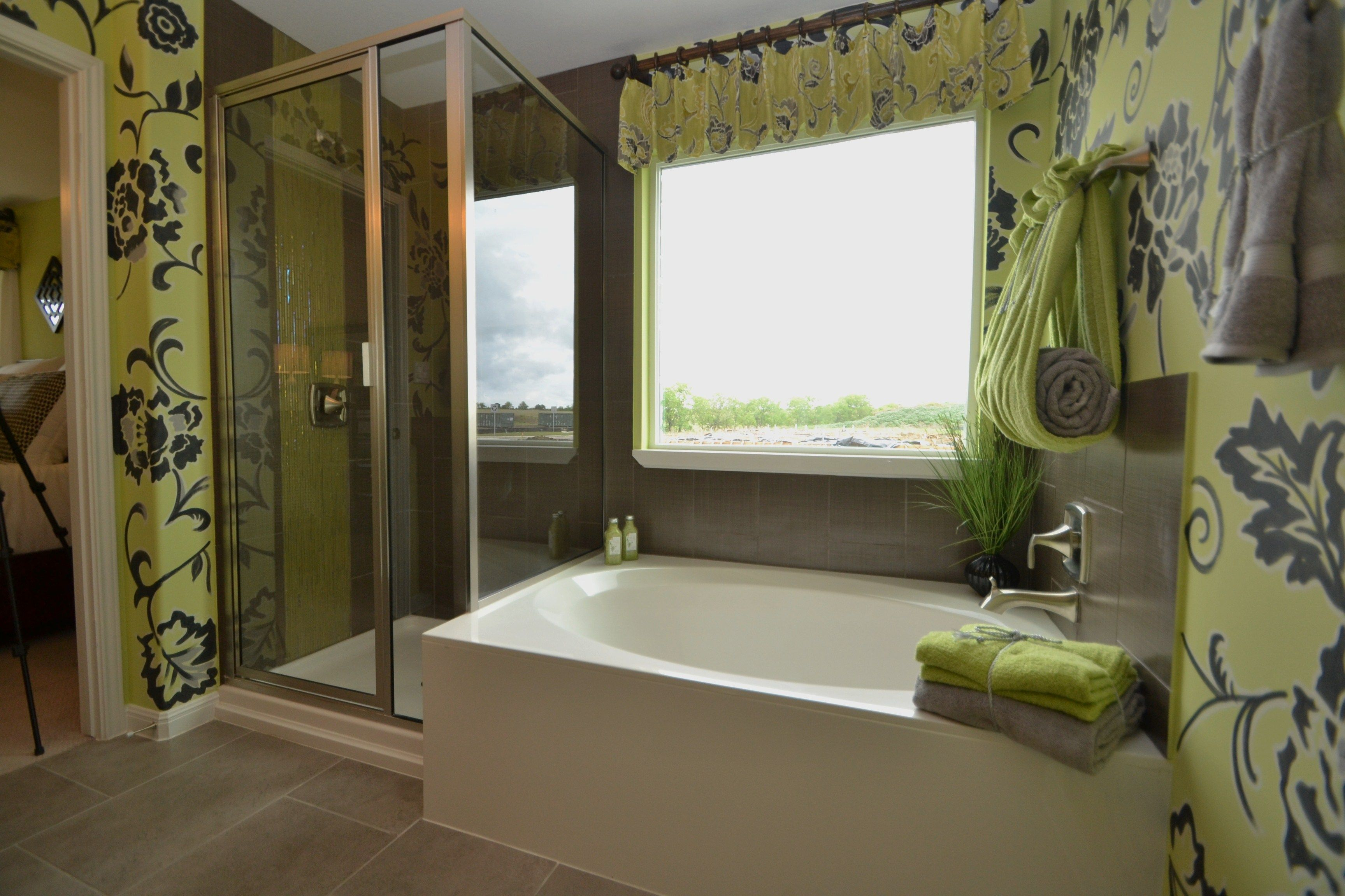 Large master bath with garden tub and seperate shower in the Meadows ...