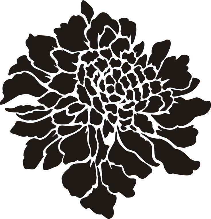 картинки с крупными трафаретами цветов