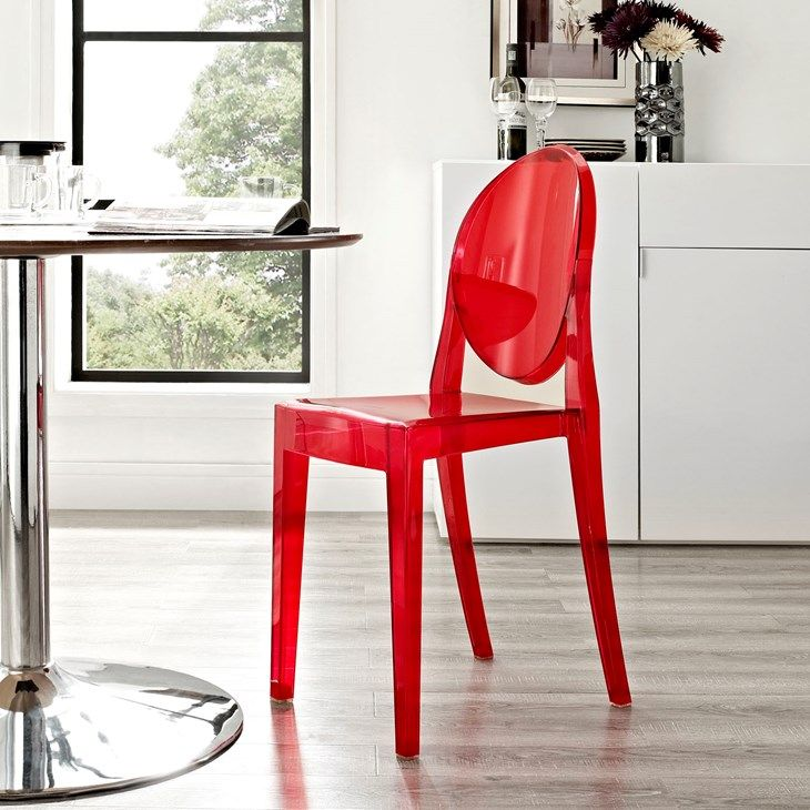 Casper Dining Side Chair In Red
