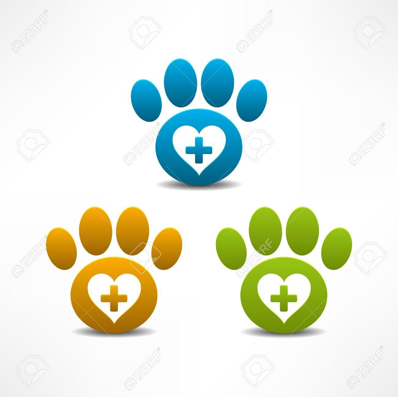 Símbolo De Clínica Veterinaria De Animales De La Pata Ilustraciones ...