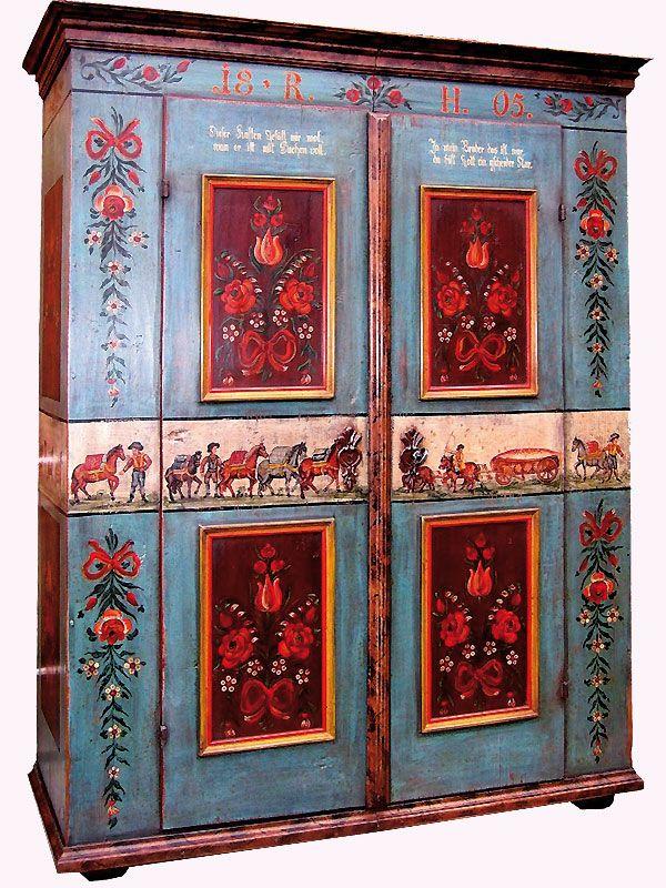 bemalter bauernschrank hand painted furniture pinterest schrank bemalte m bel und. Black Bedroom Furniture Sets. Home Design Ideas