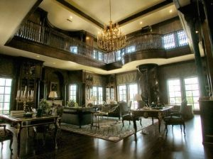 The Two Story Library Of Champ D Or A 48 000 Square Foot Mansion In Corinth Tx Home Libraries Grand Homes Beautiful Home Designs
