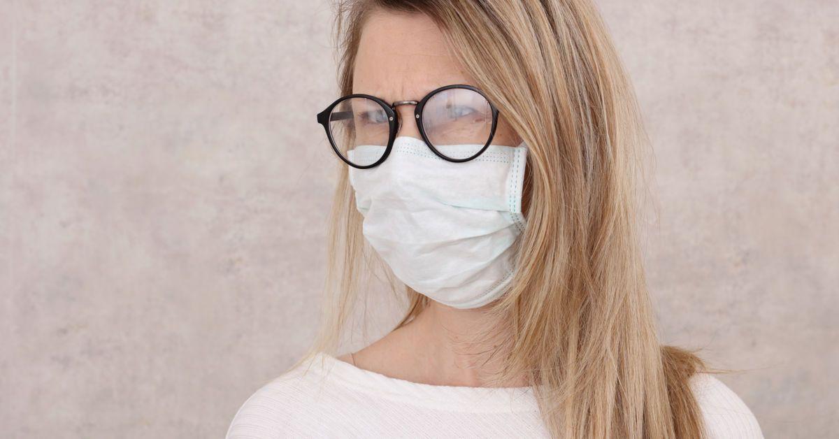 Mundschutz Beschlagene Brille