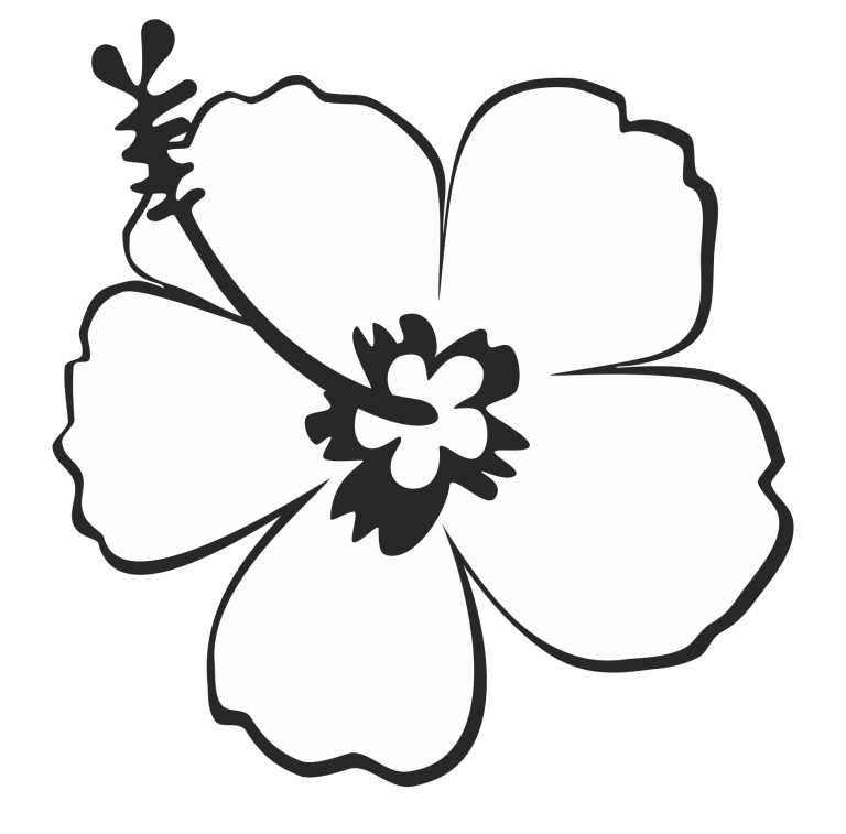 Clipart Black And White Flower Images