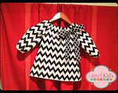 Little Girl's Chevron Peasant Dress