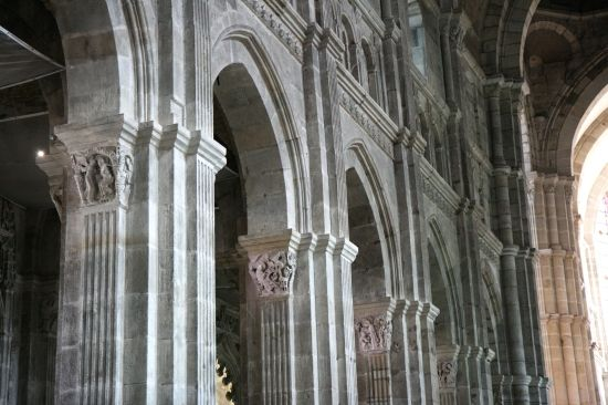 Nave Arcade Autun Cathedral C 1120 30 Architecture Design