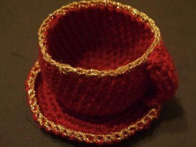 Tazzina all'uncinetto| crochet mug |