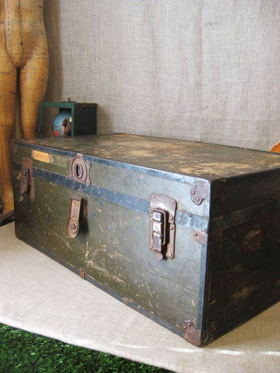 Antique Military Foot Locker Best 2000 Antique Decor Ideas