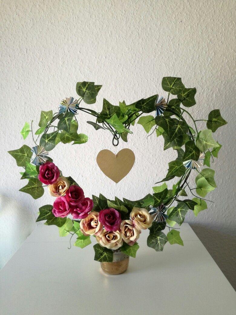 Herz Aus Efeu Geldgeschenke Hochzeit Efeu Blumen Diy Geldgeschenke Geldgeschenke Hochzeit Geschenke