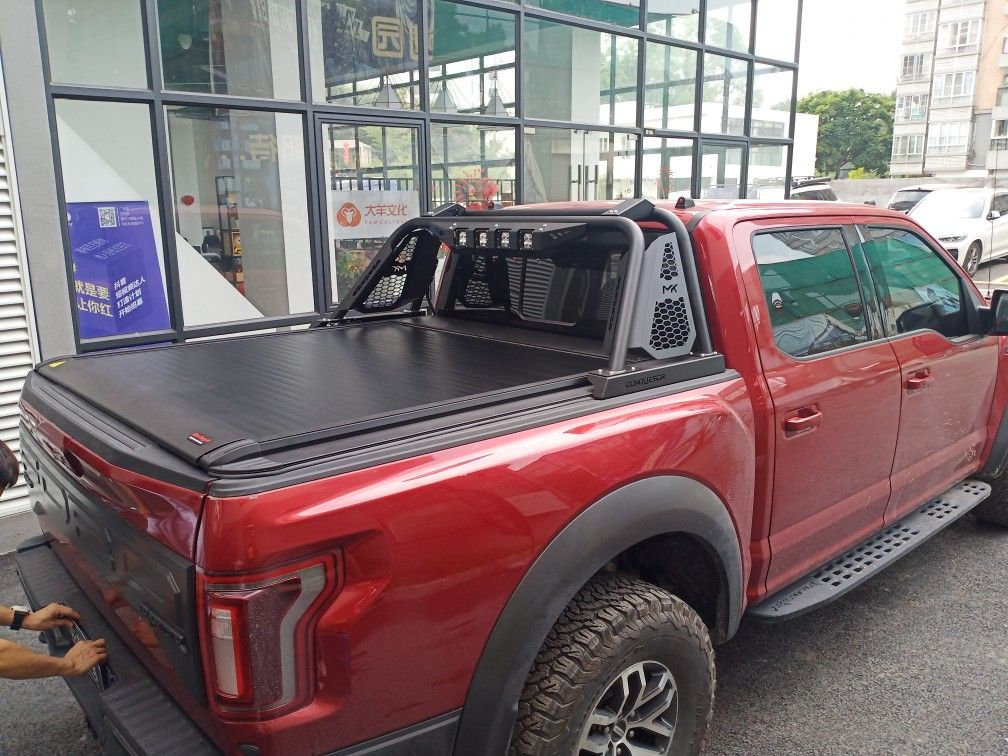 ford raptor bed cover and chase rack