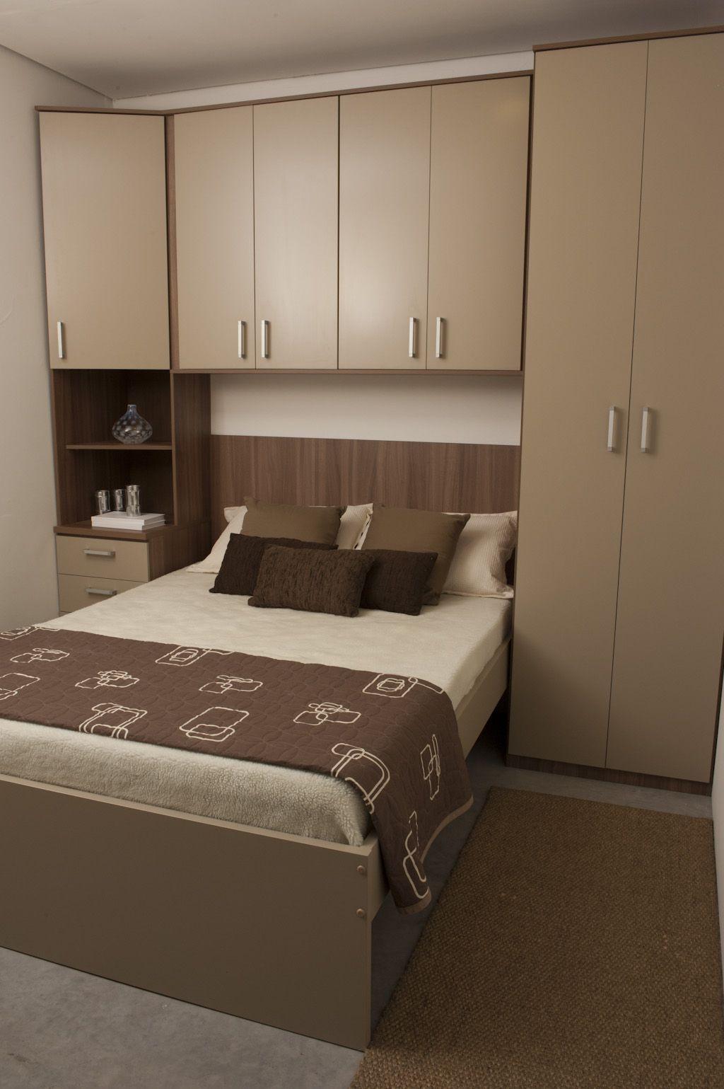 Quarto de casal planejado com cama embutida http www - Aprovechar espacio dormitorio ...
