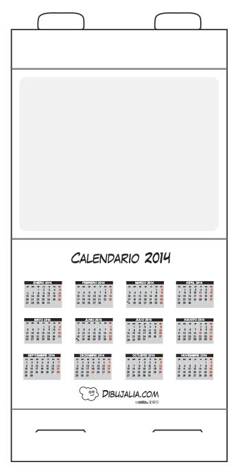 Calendario de mesa 2014 y plantillas dibujalia recursos aula calend rio de mesa artesanato - Plantilla calendario de mesa ...
