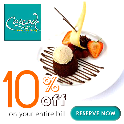Love to enjoy the best of food in the nature's lap! Then 'Cascade' is your destination.  'Cascade' that offers gazebo style of dining has planted the discounts. Get in and grab 10% discount on the entire bill through #Dinetonite