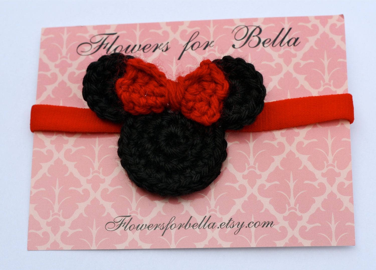 Minnie Mouse Headband Mickey Mouse Crochet by FlowersforBella f ...