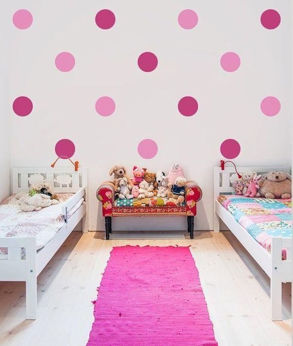 8 habitaciones infantiles decoradas con lunares lunares - Habitaciones infantiles ninas ...