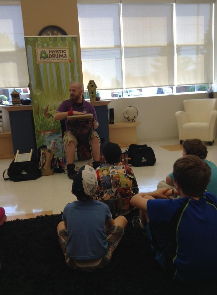 Mystic Drumz at the #GreaterSudbury #PublicLibrary #GSPLibrary for the #TDSRC