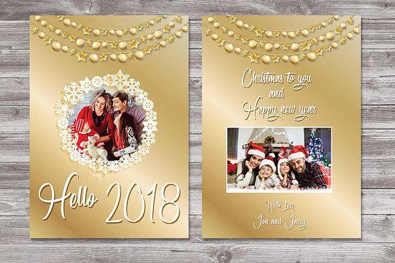 Happy New Year Photo Card Printable New Years Family Photo New Year Card Happy New Year Cards Happy New Year Photo