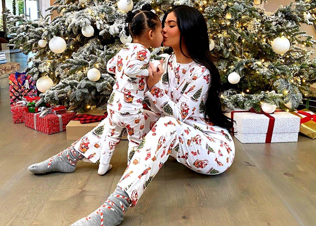 Kylie Jenner And Stormi Webster Wear Matching Pajamas Christmas
