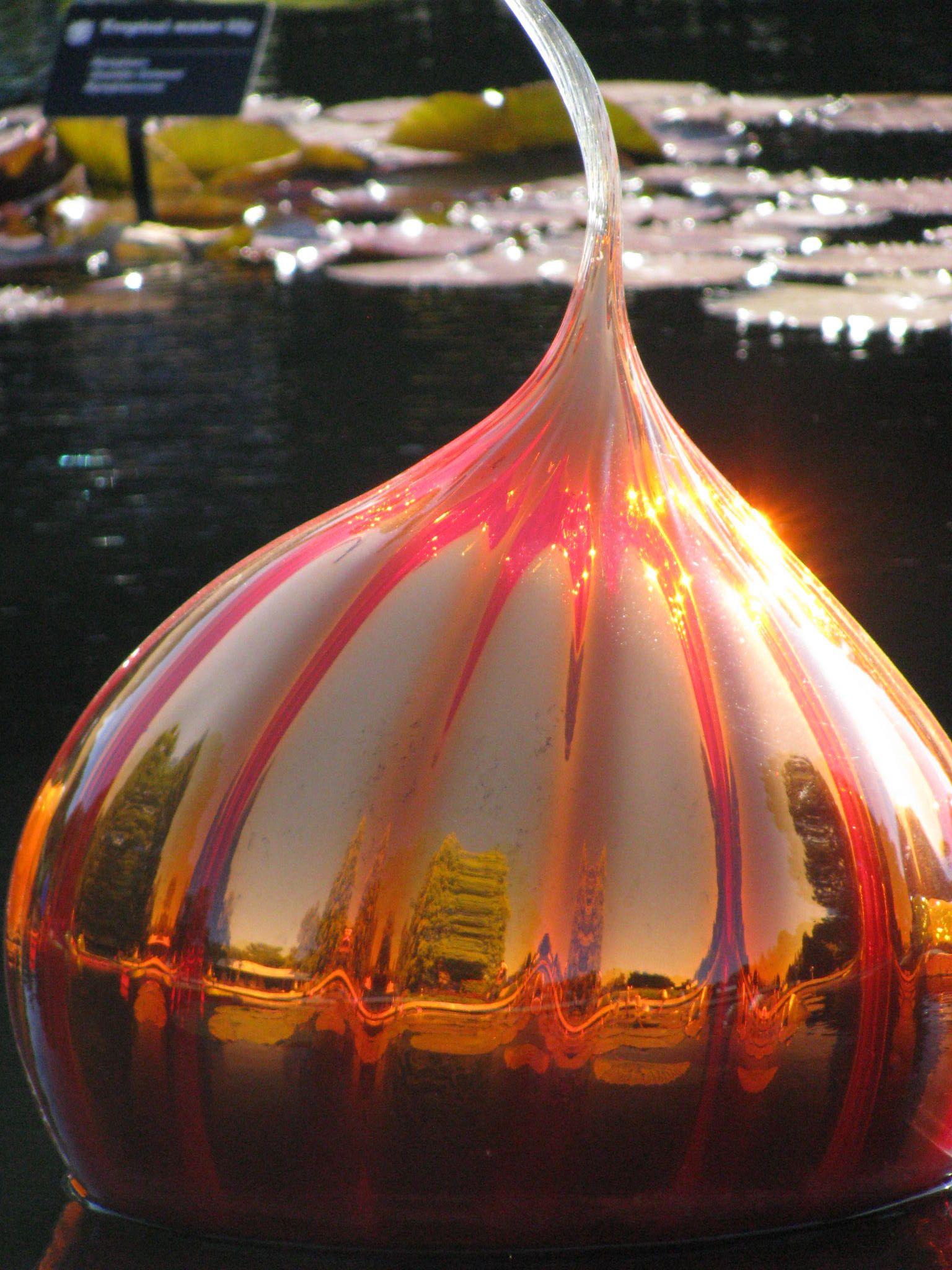 Chihuly glaslök från MO Botanical Garden.