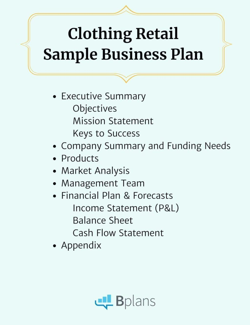 Clothing Line Business Plan New Clothing Retail Sample
