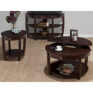 Jofran Lift Top Coffee Table Set Espresso http