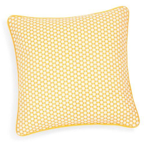 Kissenbezug aus Baumwolle, gelb/grau, 40 x 40cm, PORTIMAO