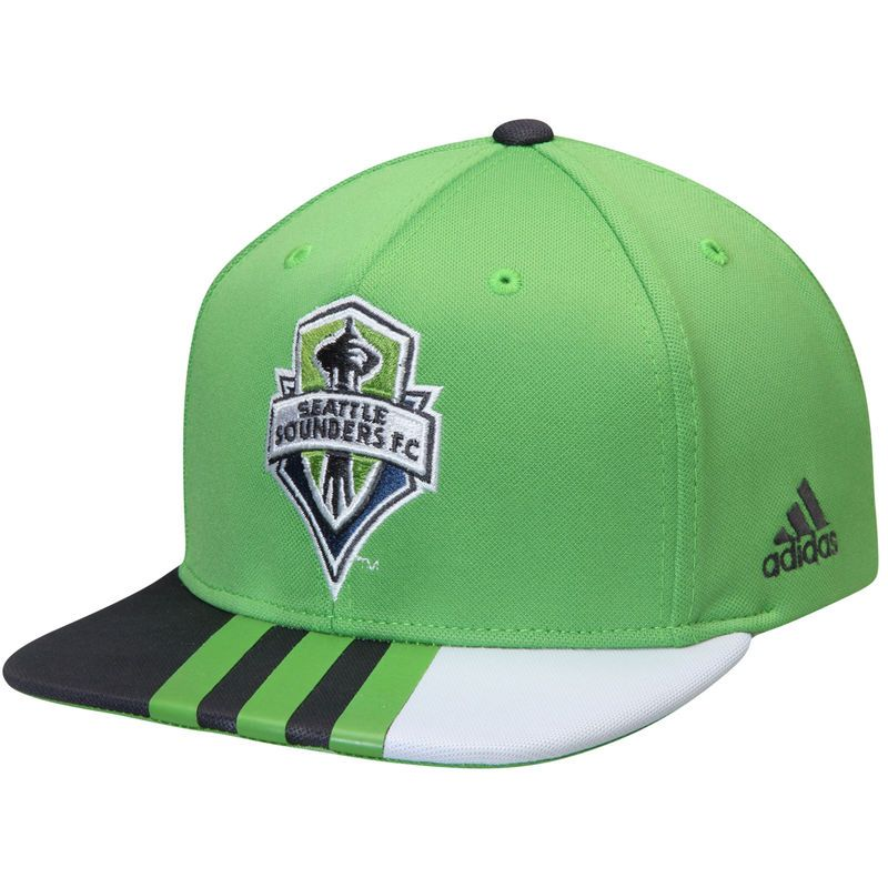 027eb86bac1 Seattle Sounders FC adidas Authentic Team Adjustable Snapback Hat - Rave  Green