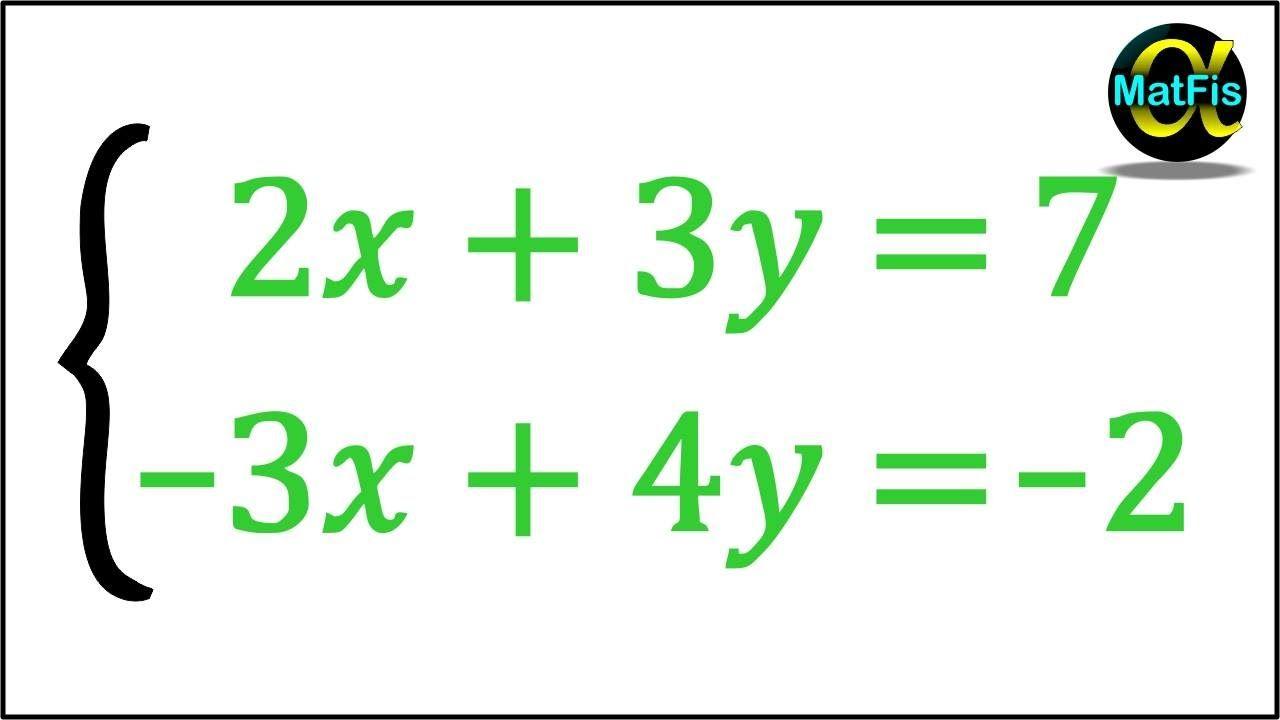 Sistema De Ecuaciones De 2x2 Método De Sustitución Ejemplo 5 Sistemas De Ecuaciones Ecuaciones Matematicas