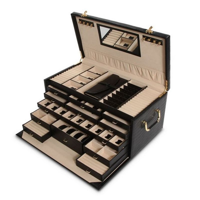 Siara Black Leather Jewelry Box only 31990 plus free shipping