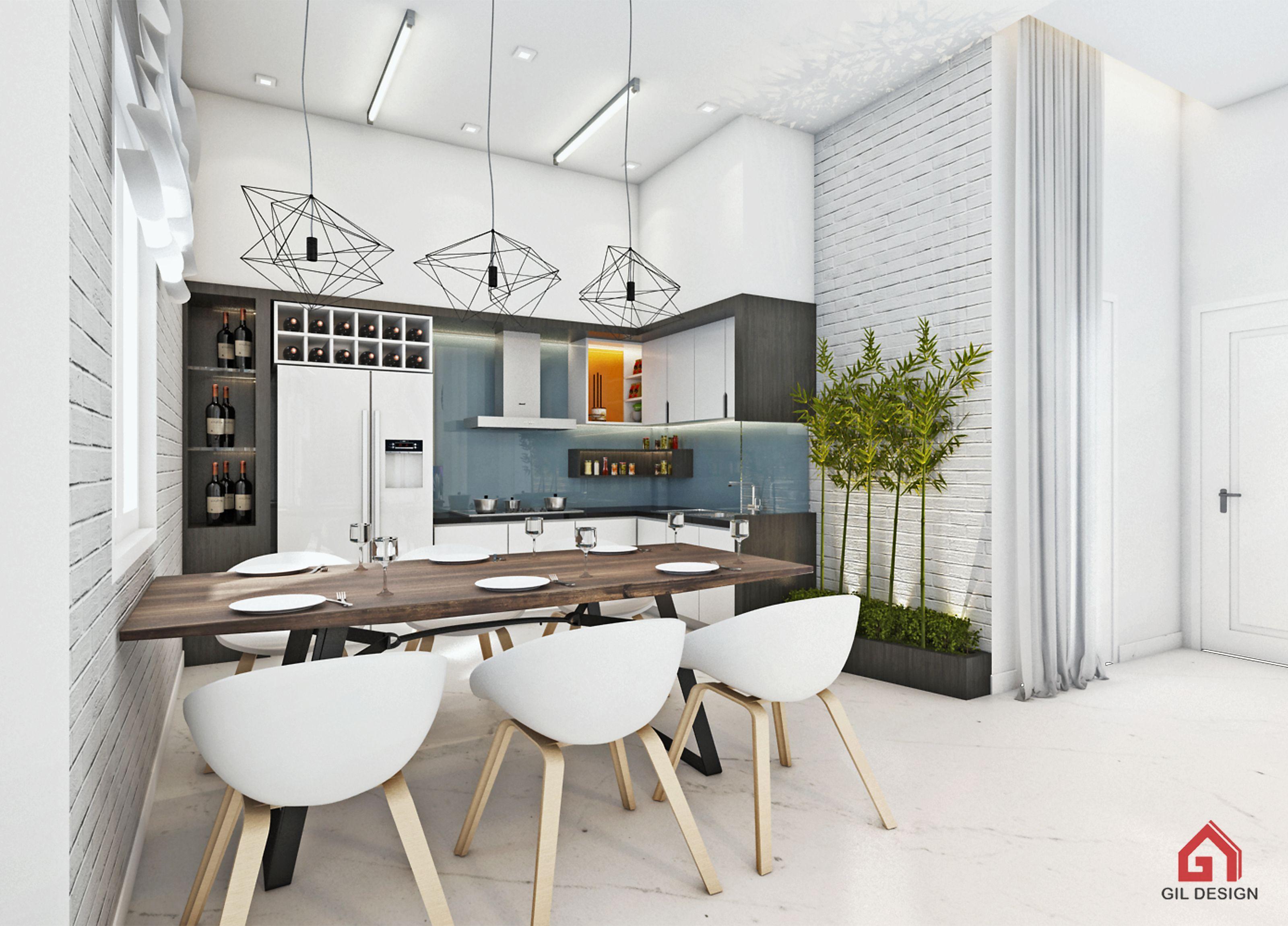 Modern Kitchen. Ho Chi Minh City, Vietnam. Designed by Gil Design. Gildesign.vn