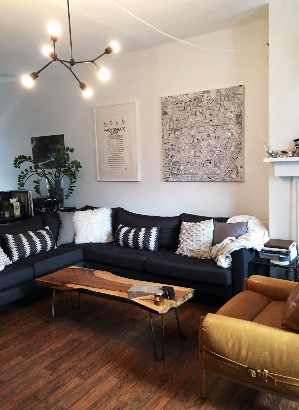6 Lighting Ideas For Rooms Without Ceiling Lights Andchristina Coffee Table Live Edge Console Table Home Goods Decor