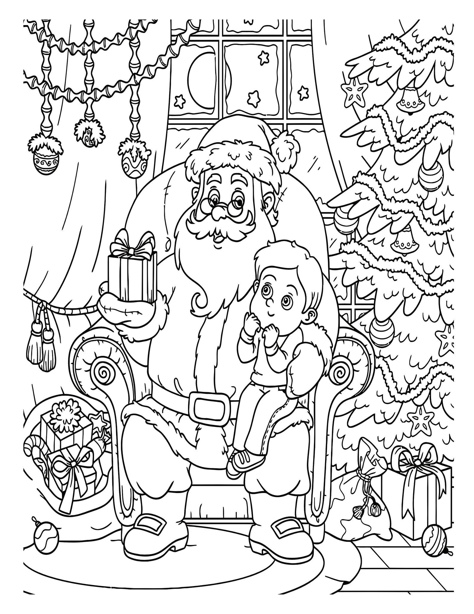 Printable Christmas Coloring Pages For Kids 60 Xmas Coloring Etsy In 2021 Printable Christmas Coloring Pages Christmas Coloring Pages Santa Coloring Pages